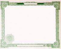 Alter Weinlese-Aktienzertifikat-leerer Rand 1914 Lizenzfreies Stockbild