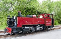 Alter Weinlese-Dampf-Gleis-Motor Stockfoto