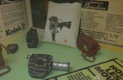 Alter Weinlese Kodak-Schmierfilmbildungsgang auf Anzeige Lizenzfreies Stockbild