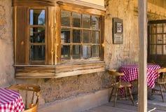 Alter Westcowboymexikanischer Cantina-Saal Stockbild