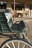 Alter westlicher Buggy und Speicher Stockbild