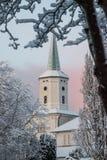 Alter Winter Daubenkirche Norwegens Stavanger stockfoto