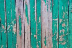 Alter Zaun verschalt Grün Lizenzfreie Stockbilder