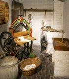 Alter Zeitwaschmaschinenraum Lizenzfreies Stockbild