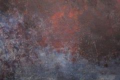 Alter Zement des gelben Rostschmutzes verwitterte Wandhintergrund Stockbilder