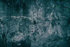 Alter Zement verwitterte Betonmauertürkis-Malachitfarbe Lizenzfreies Stockfoto