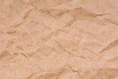 Alter zerknitterter Papierbeschaffenheitshintergrund, Abschluss oben Stockfotografie