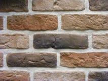 Alter Ziegelstein oder Steinwand, rostiges Design der Backsteinmauerhintergrund-Weinlese Stockfoto