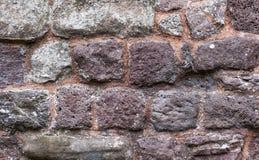 Alter Ziegelstein und legen Steine in den Weg lizenzfreies stockfoto
