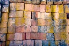 Alter Ziegelstein vom alten Stockbilder