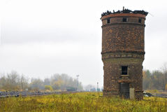 Alter Ziegelstein-Waßerturm stockfotografie