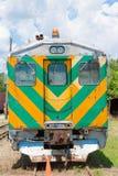 Alter Zug geparkt in einem Abstellgleise Lizenzfreies Stockbild