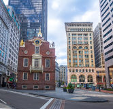Alter Zustand haus- Boston, Massachusetts, USA stockbilder