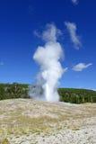 Alter zuverlässiger Geysir, Yellowstone Nationalpark, Wyoming Lizenzfreie Stockfotos