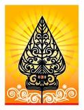 Alteração de Gunungan ou árvore de vida em fantoches da sombra Imagem de Stock Royalty Free