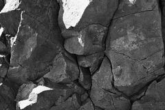 Alteración por los agentes atmosféricos de la roca ígnea Imagen de archivo libre de regalías