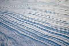 Alteración por los agentes atmosféricos en el llano de la nieve Imagen de archivo libre de regalías