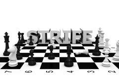 Altercação da xadrez Imagem de Stock Royalty Free