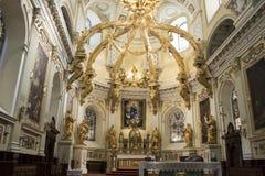 Altere dentro de la basílica de Notre Dame, la ciudad de Quebec, Canadá fotografía de archivo libre de regalías