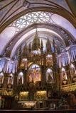 Altere la basílica interior de Notre Dame, Montreal, Quebec, Canadá fotografía de archivo