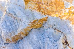 Rock Surface Detail. Altered, bedrock, boulder and granite type of mixed rocks with different shapes, formations and detail. Ideal for reference, research and Stock Images