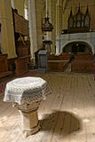 Alteri in cappella a Biertan ha fortificato la chiesa, Romania Fotografie Stock Libere da Diritti