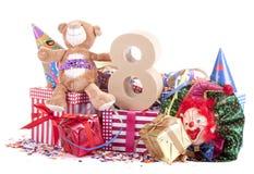 Altern Sie in den Zahlen in einer Parteistimmung für einen Geburtstag der Kinder lizenzfreies stockbild