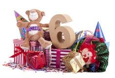 Altern Sie in den Zahlen in einer Parteistimmung für einen Geburtstag der Kinder lizenzfreie stockbilder