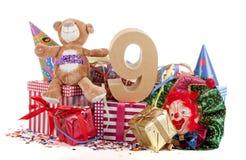 Altern Sie in den Zahlen in einer Parteistimmung für einen Geburtstag der Kinder stockfotos