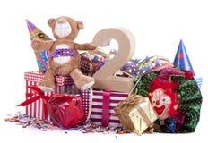 Altern Sie in den Zahlen in einer Parteistimmung für einen Geburtstag der Kinder lizenzfreies stockfoto