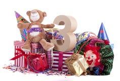 Altern Sie in den Zahlen in einer Parteistimmung für einen Geburtstag der Kinder lizenzfreie stockfotos