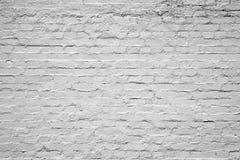 Altern und alte weiße Backsteinmauer für Beschaffenheit, Hintergrund Lizenzfreie Stockfotografie