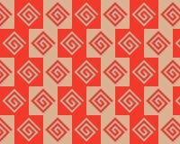 alternate art beige greeks pattern pop red Στοκ Εικόνες