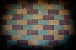 Alternate colored brick wall Royalty Free Stock Images