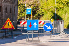 Alternate one-way signal. Royalty Free Stock Images