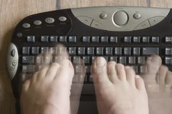 Alternate typing Stock Image