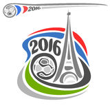 Alternatief embleem van Europese Voetbal Stock Fotografie