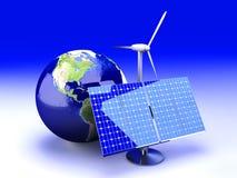 Alternatieve Energie - de V.S. royalty-vrije illustratie