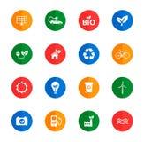 Alternatieve energie eenvoudig pictogrammen Royalty-vrije Stock Fotografie