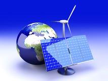 Alternatieve Energie - Europa Stock Afbeeldingen
