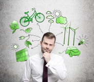 Alternatieve energie, schoon milieu Royalty-vrije Stock Afbeeldingen