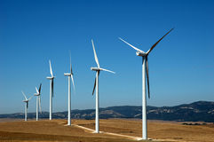 Alternatieve energie: wind Stock Afbeeldingen