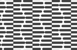 Alternating black and white cut in half hexagons Stock Photography