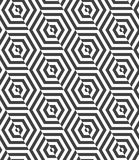 Alternating black and white diagonally cut hexagons Stock Photos