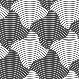 Alternating black and white wavy squares Royalty Free Stock Photo