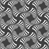 Alternating black and white wavy striped crosses Royalty Free Stock Image