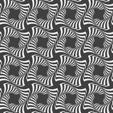 Alternating black and white wavy striped crosses in row Stock Photography