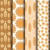 Alternating orange patterned Geometric Brown. Which can be used endlessly Royalty Free Stock Images