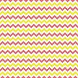 Pink and Yellow Chevron Seamless Pattern stock illustration