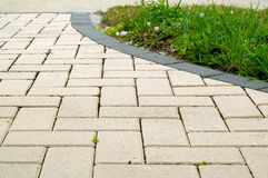 Alternating rectangular pavers Royalty Free Stock Photo